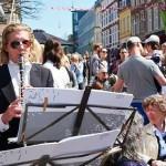 Musikere fra Aarhus Symfoniorkester i Jægergaardsgade | Foto: Anders Bigum