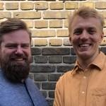 Allan Gravgaard Madsen (tv) og Frederik Sakham Jalving Lomborg (th)